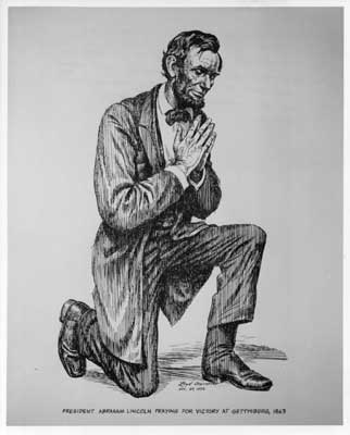 Lincoln prays. Image from http://abelincoln.com/ostendorf_positives/images/sc-06.jpg